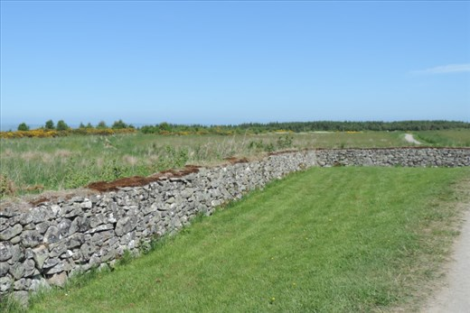 This dry stack stone wall provided cover for the telling British ambush