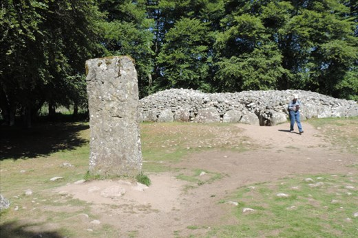 A large stone guards the NW Cairn as Kent's sister, Jacque, exits the cairn
