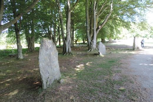 A few standing stones guard the NE Cairn