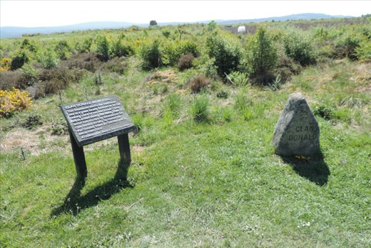 The Clan Donald Memorial sits at the northern edge of the Battlefield