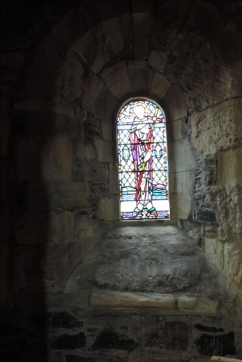 This is one of the VERY few stained glass windows in the Abbey