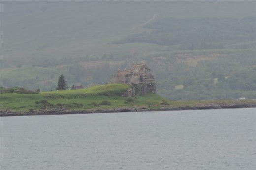 Duart Castle overlooks the pier at Craignure on Iona