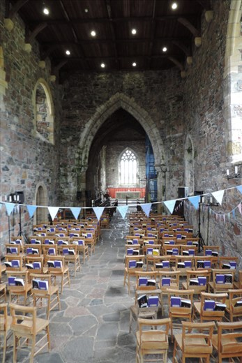Construction of Iona Abbey began in AD 600s by St Columba