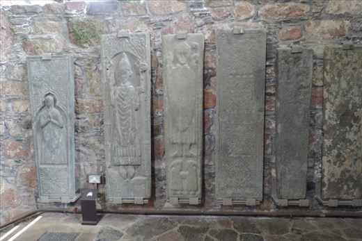 There are numerous grave markers for warriors that protected Iona and the Abbey