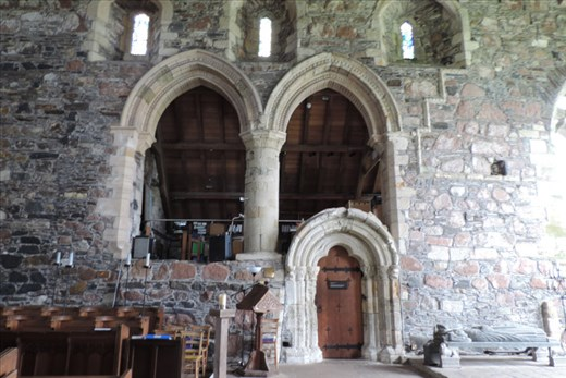 Here's the sacristy on the North Wall in the West Range of the Abbey