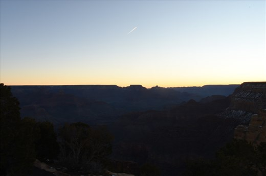 Here's the view looking eastward into the Canyon at first light.