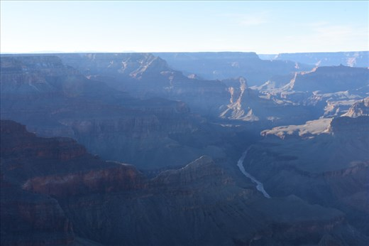 Late afternoon sun filtered into the Canyon near the Watchtower lookout at the eastern end of the Park.