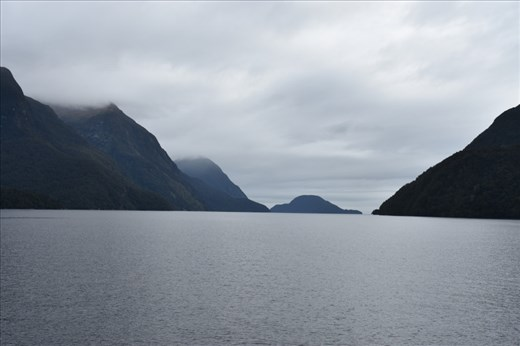 Looking westward out from the Sound, there's no land across the Pacific Ocean until Argentina (more than 7000 km!).