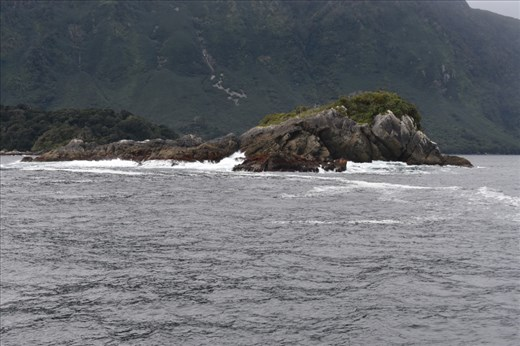 Waves and wind were much more active near the mouth of the Sound.