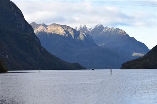 But then sunshine magically appeared as our ferry came to fetch us back across the Lake.