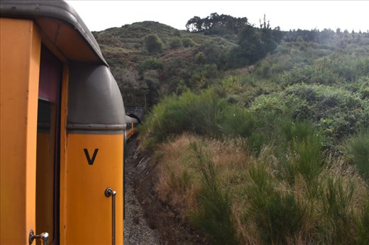 Here, the train begins to enter the first of 10 tunnels on the route.