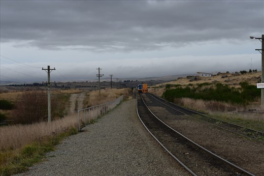 The engine is now moving over to our set of rails for the return journey.