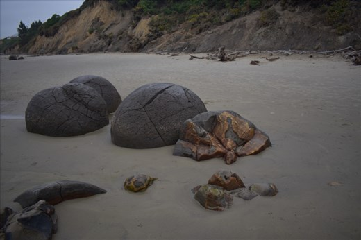 Other boulders appeared to have been deflated.