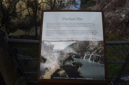 The Hut was part of the improvements to encourage tourism in the Gorge.