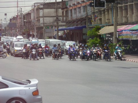 motorbike madness in Trat