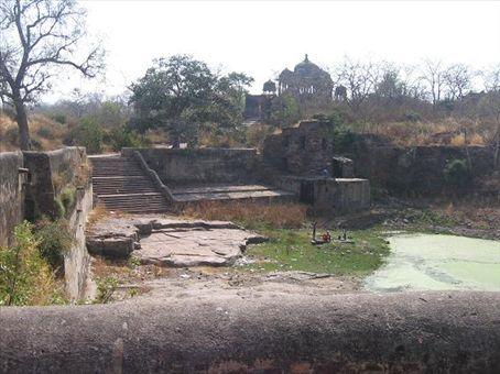 Uno scorcio nel forte di Ranthambore