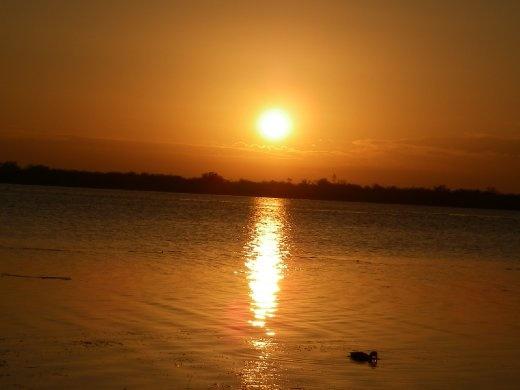 Sunrise on the Ole Coot