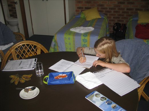 Asher keen to keep up with school work - Day One! (Gold Coast)