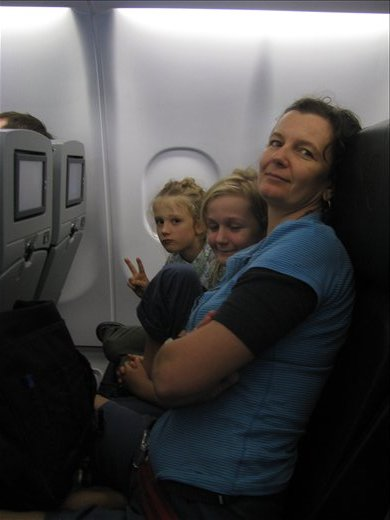 In flight - Coolongatta to Kuala Lumpar