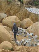 Road worker on road from DaLat to Nha Trang: by terrihorner, Views[149]