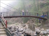 The bridge to Cat Cat Falls after a steep 3 km walk down from Sapa: by terrihorner, Views[141]