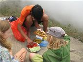 Our guide, San, preparing a much appreciated  lunch: by terrihorner, Views[260]