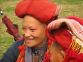 Red Dzao woman with her shaved head: by terrihorner, Views[462]