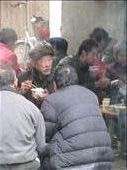Narrow alleyway in Xingping- locals sharing hotpot lunches: by terrihorner, Views[244]