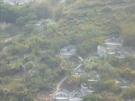 View of burial sights (recent) from Dolphin lookout - Tai O