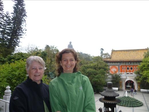Helen and Terri at Ngong Ping 360, Lantau