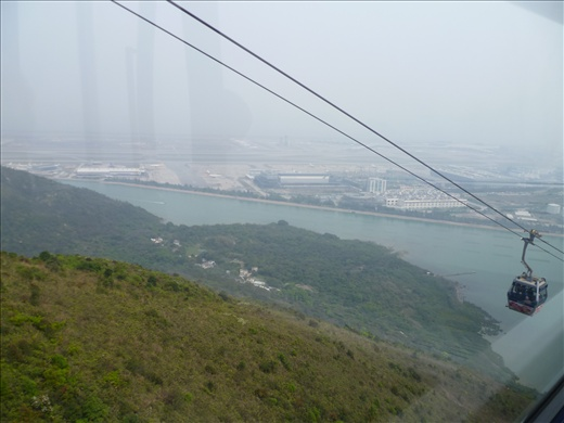 Our cable car ride down from Ngong Ping 360 to Citygate- Lantau