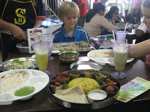 Lunch with the locals, little India - my NorthIndia banana leaf set was devine!