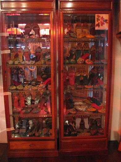 Old shoe collection of wealthy Malay Chinese