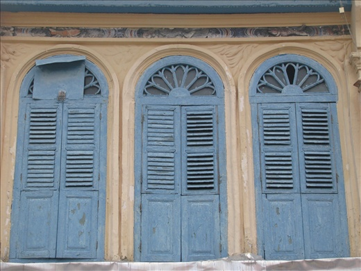 Typical example of Georgetown terrace windows