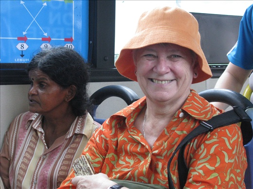 Mum and local on the inner georgetown free bus