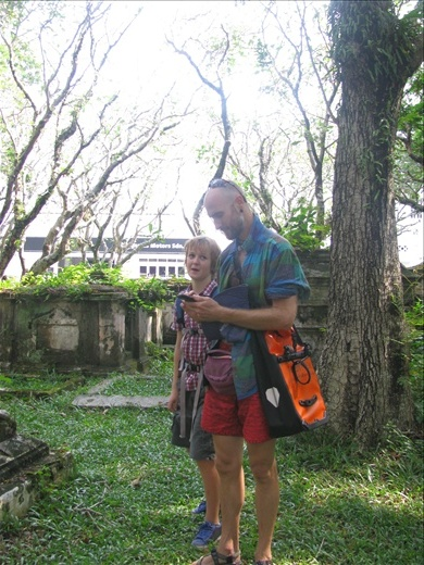 Adrian and Nim in the Old Protestant Cemetery