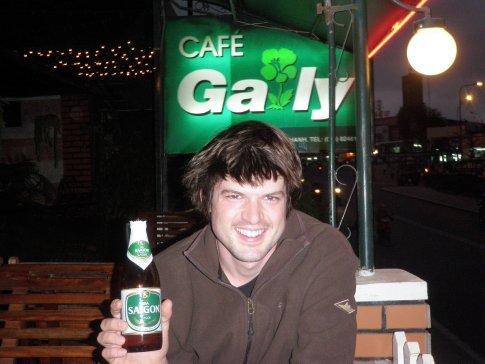 Bia Saigon at the Gaily Cafe