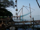 Counter levered Chinese fishing nets at Fort Cochin: by tessa86, Views[377]