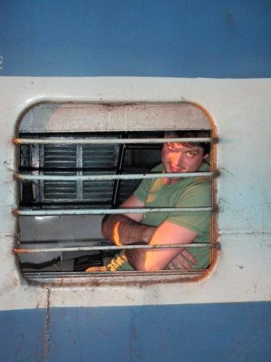 In the train bound for Madurai!