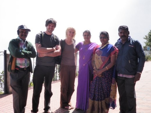 These Indian tourists stopped us to ask if we could all get some photos together...the women had to swap places so they both got a chance to stand next to the freakishly white girl.