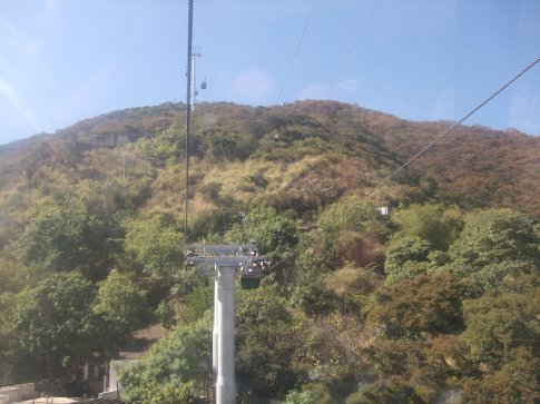 Cabel car to San Bernardo Hill.