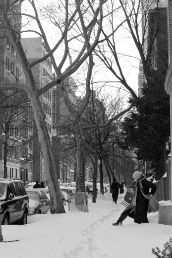 This was taken in New York City in December 2010 after the blizzard crippled the City.