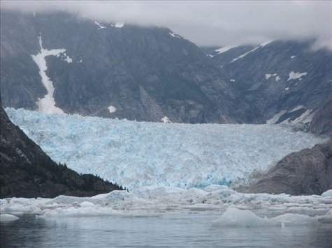LeConte Glacier proceeds 90 feet a day, and is the southern most tide water glacier in North America