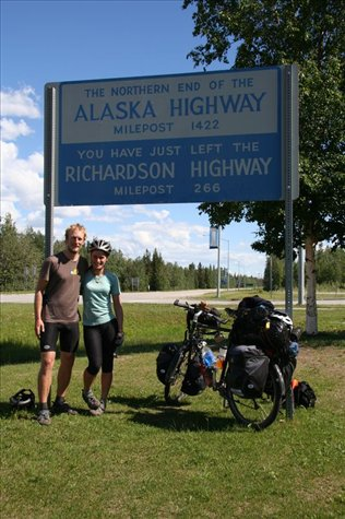 The start (or end) of the Alcan Highway