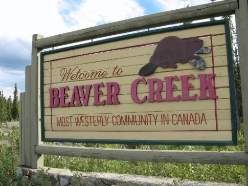 Entering Canada for the first time at Beaver Creek