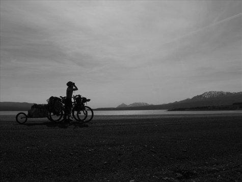 early morning near Burwash landing on Kluane Lake