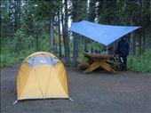 a wet camp at Kathleen Lake; we collect water with the tarp into the pots: by thefuegoproject, Views[470]