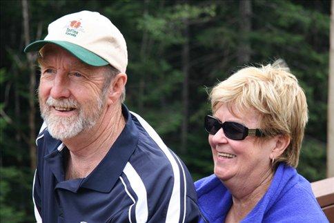 Dad and Joan, Elk River overlook