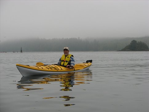 Dad on his first paddle
