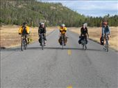 Ali, Colin, Lucas, Kevin and Thomas riding to Old Faithful, Yellowstone NP: by thefuegoproject, Views[388]